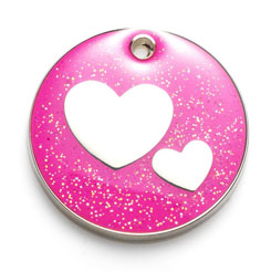 Glitter Dog ID Tags