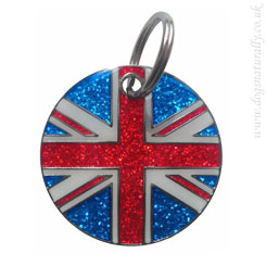 Flag Dog ID Tags