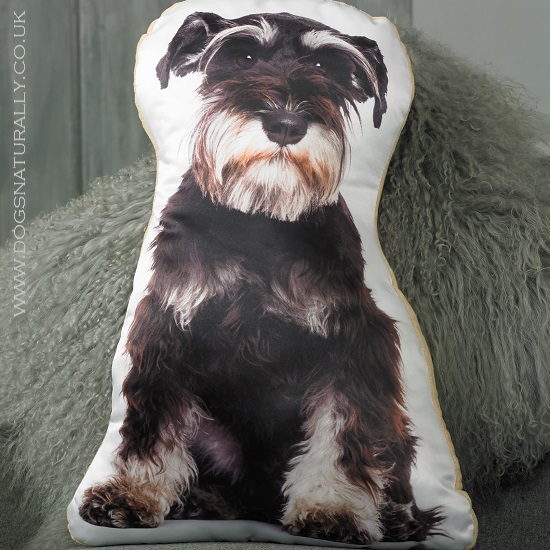 Schnauzer Cushion (Black & Silver)