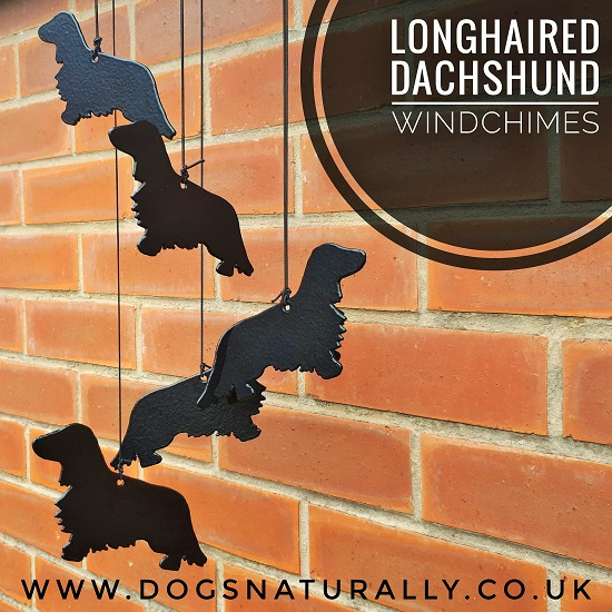 Longhaired Dachshund Memorial Windchimes