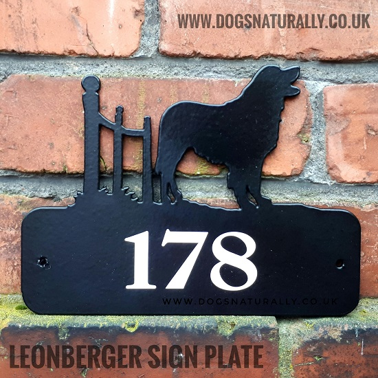Leonberger House Sign Plate