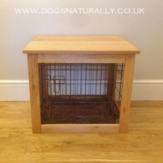 Oak Dog Crate Large Dogs Naturally