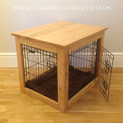 Oak Dog Crate/Table (Large)