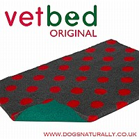 Charcoal with Red Polka Dot Vetbed Original