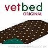 Vet Bed Original Brown with Blue Polka Dots