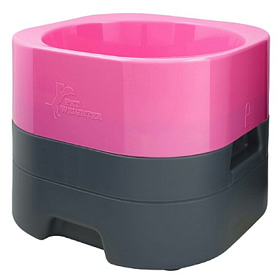 Pet Weighter Dog Bowl Hot Pink