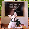 French Bulldog Puppy Friend Greetings Card