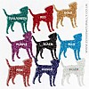 Glitter Colour Swatch - Dog Hanging Decoration