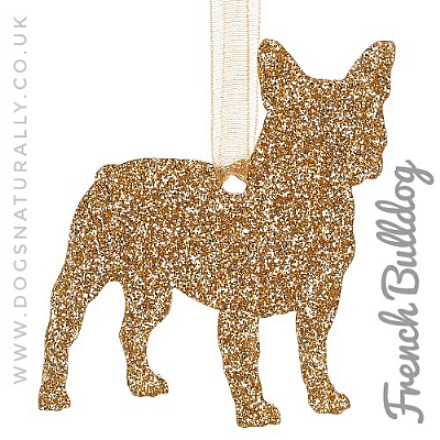 French Bulldog Glitter Decoration (Choose from 11 colours or Mix)