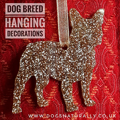 French Bulldog Glitter Decoration