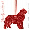 Newfoundland Glitter Christmas Hanging Decoration (Red)