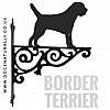 Border Terrier Ornate Wall Bracket