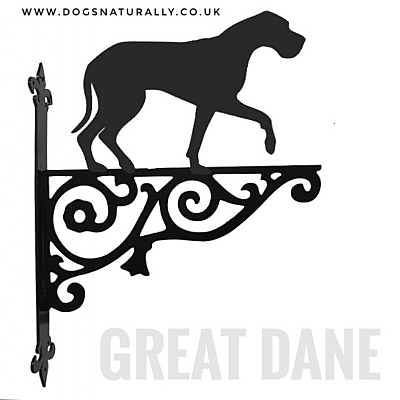 Great Dane Ornate Wall Bracket