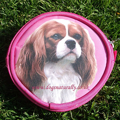 Cavalier Dog Purse (Blenheim) Pink or Lilac