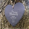 Memorial Slate Heart - Haning Decoration