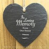 In Loving Memory Memoiral Heart Slate Hanging Decoration (Xena)