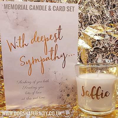 Personalised Memorial Candle & Card Set