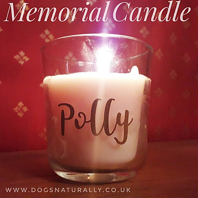 Personalised Scented Dog Memorial Candle