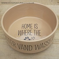Large Personalised Dog Bowl Home is Design