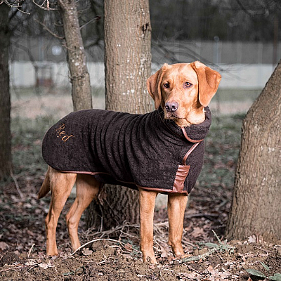 Dog Drying Coat - Brown (Country)