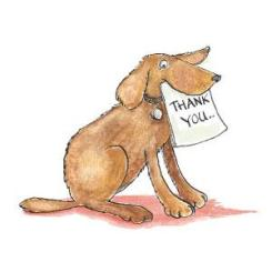 Dog Thank You Cards
