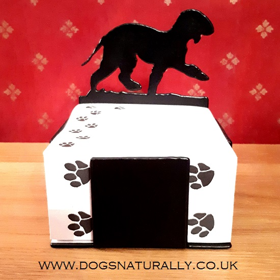 Bedlington Terrier Note Block Holder