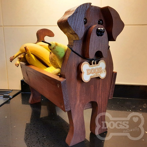 Wooden Dog Fruit Bowl/Stand (Labrador)
