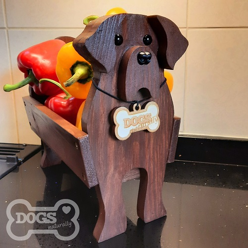 Wooden Dog Vegetable Bowl/Stand (Labrador)