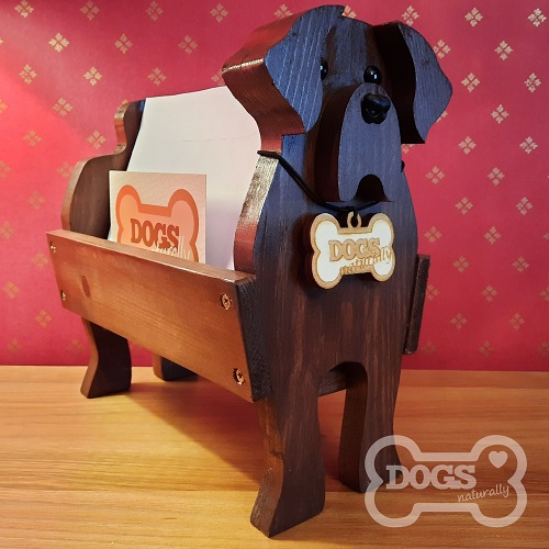 Wooden Dog Letter, Mail, Post Rack (Chocolate Labrador)