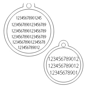 Red Dingo Dog ID Tag Engraving Examples