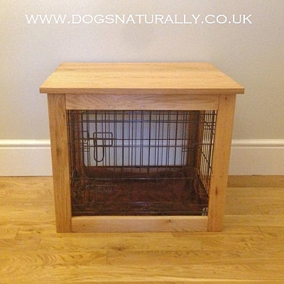 Oak Dog Crate/Table (Small)