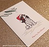 Tri-Colour Cavalier King Charles Chistmas Card (Flitter)
