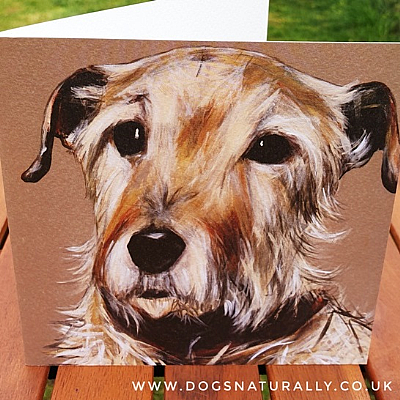 Jack Russell Dog Lover Portrait Art Card