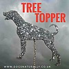 Dog Breed Tree Topper Glitter Decorations