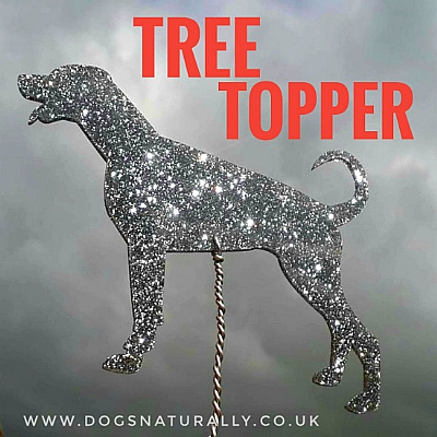 Dog Breed Tree Topper Glitter Decoration (Choose from 11 colours or a Mix)