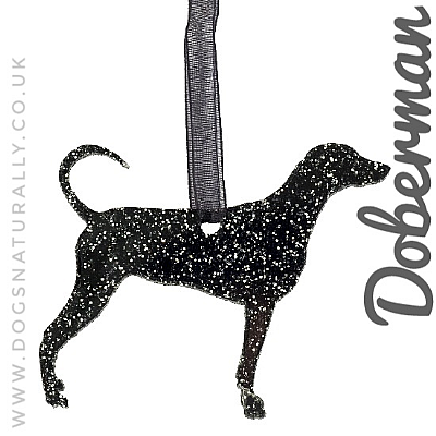 Dobermann Glitter Decoration (Choose from 11 colours or Mix)