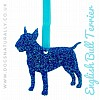 English Bull Terrier Glitter Hanging Decoration (Blue)