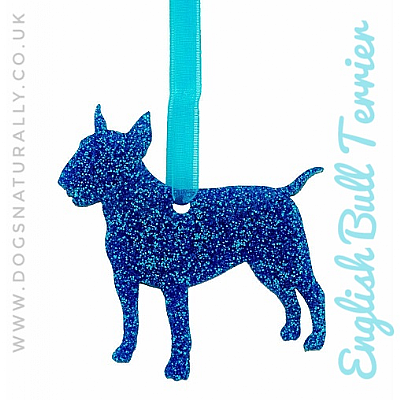 English Bull Terrier Glitter Decoration (Choose from 11 colours or Mix)
