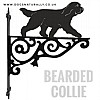 Bearded Collie Ornate Wall Bracket