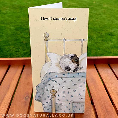 Business Trip Dog Lover Greetings Card
