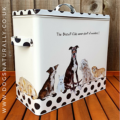The Biscuit Club Dog Storage Tin