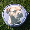 Border Terrier Purse - Round Lilac
