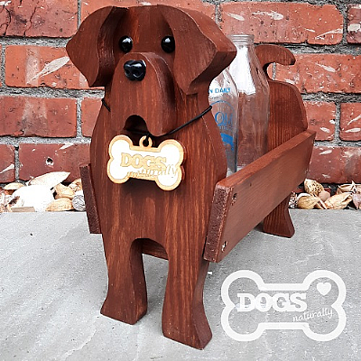 Luxury Handmade Chocolate Labrador Stand/Caddy