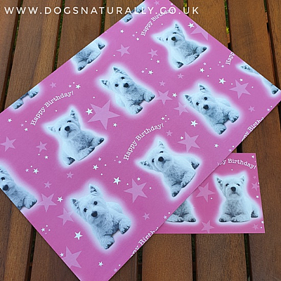 Westie Birthday Wrapping Paper