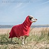 Red Drying Coat - High Neck - Spaniel Ears
