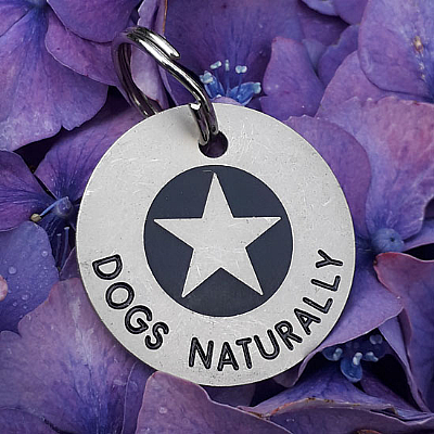 Black Star Dog Tags 23mm or 30mm